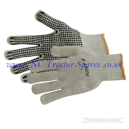 Single Sided Dot Gloves One Size (Silverline)