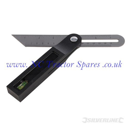 Sliding T Bevel with Spirit Level 200mm (Silverline)