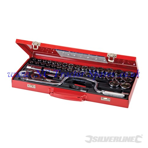 "Socket Wrench Set 1/2"" Drive Metric/AF 42pce 42pce (Silverline)"