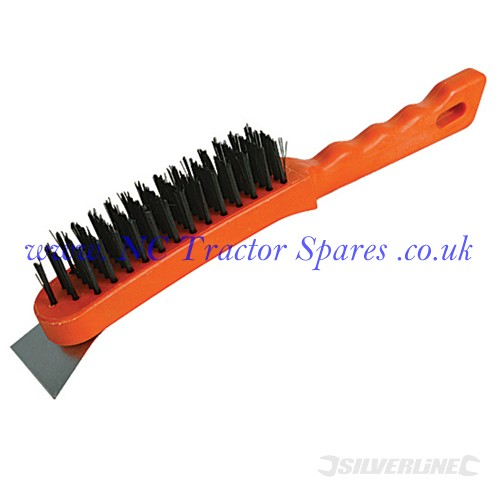 Steel Wire Brush 5 Row / Scraper (Silverline)