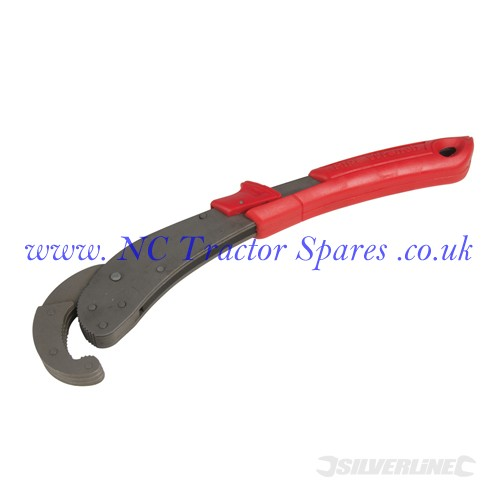 Super Grip Pipe Wrench 21 - 48mm Jaw (Silverline)