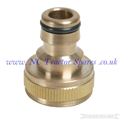 "Tap Connector Brass 3/4"" BSP - 1/2"" Male (Silverline)"