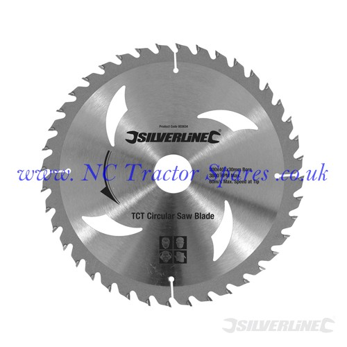 TCT Circular Saw Blades 40, 60T 2pk 300 x 30 - 25, 20, 16mm rings (Silverline)