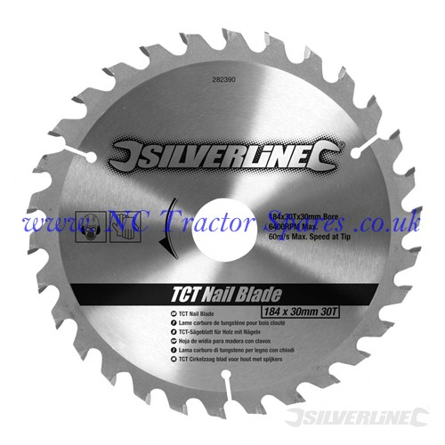 TCT Nail Blade 30T 184 x 30 - no rings (Silverline)