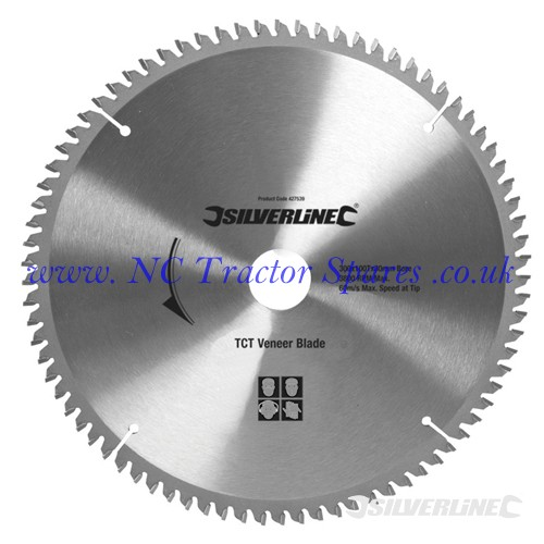 TCT Veneer Blade 100T 300 x 30 - 25, 20, 16mm rings (Silverline)