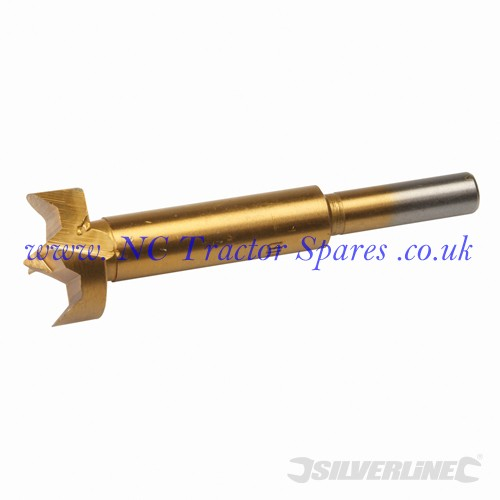 Titanium-Coated Forstner Bit 25mm (Silverline)
