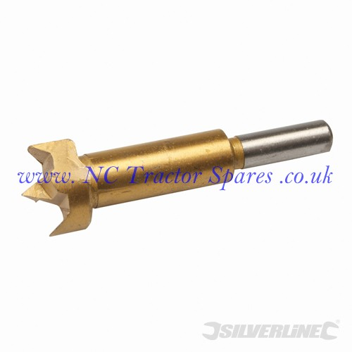 Titanium-Coated Forstner Bit 26mm (Silverline)