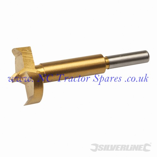 Titanium-Coated Forstner Bit 35mm (Silverline)