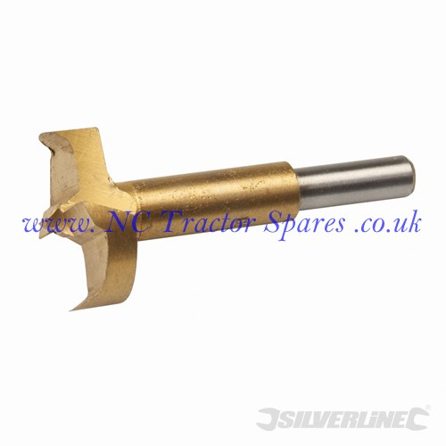 Titanium-Coated Forstner Bit 40mm (Silverline)