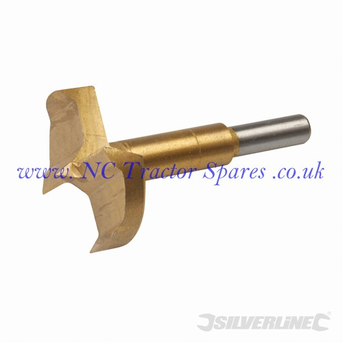 Titanium-Coated Forstner Bit 50mm (Silverline)