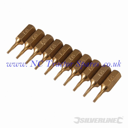 Torx Gold Screwdriver Bits 10pk T6 (Silverline)