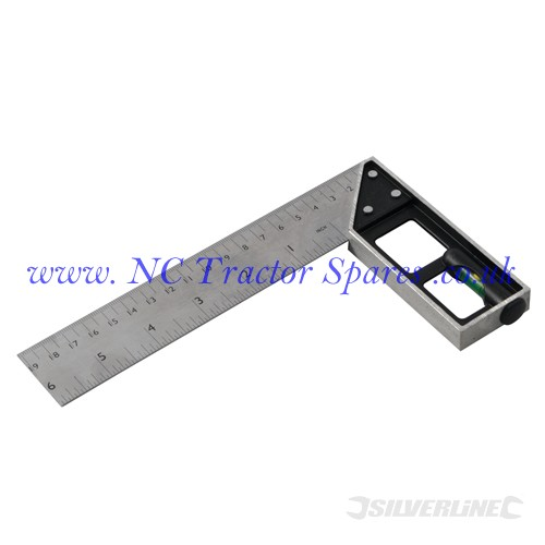 Tri & Mitre Square with Spirit Level 150mm (Silverline)