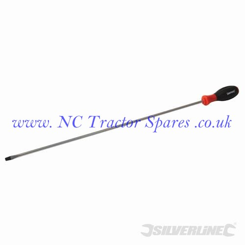 Turbo Twist Screwdriver Extra Long 450mm Slotted 6mm (Silverline)