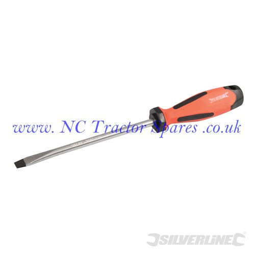 Turbo Twist Screwdriver Slotted Flared 8.0 x 150mm (Silverline)