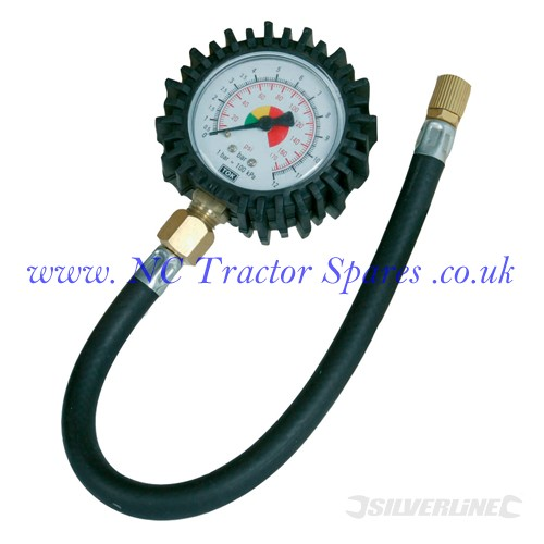 Tyre Dial Gauge 0 - 100psi (0 - 10bar) (Silverline)