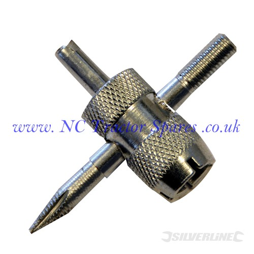 Tyre Valve Repair Tool 4 - Way (Silverline)