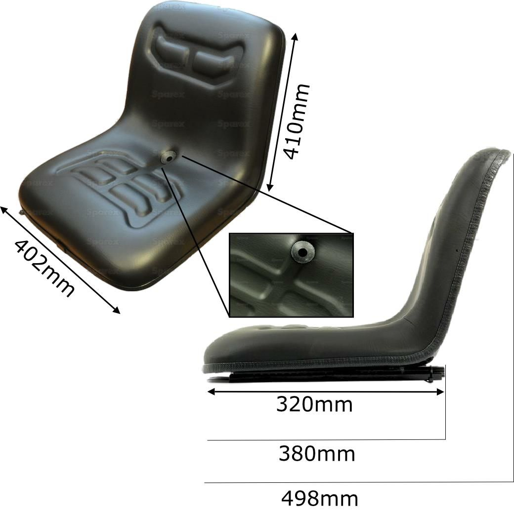 Universal Fork Lift Seat With Adjustable Slide
