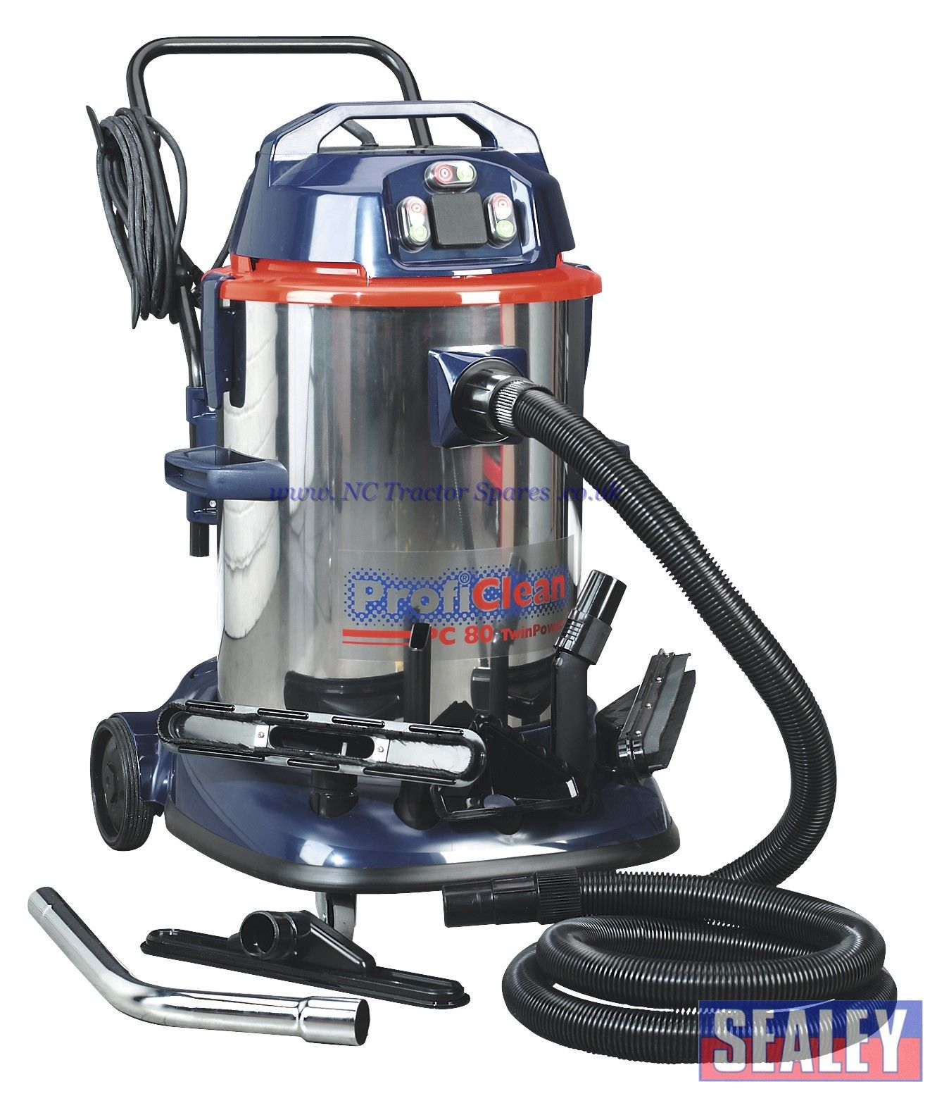 f32299f61e9 Vacuum Cleaner Industrial Wet & Dry Twin Motor 80ltr 1200 2400W 230V