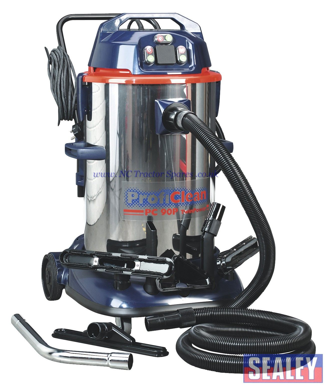 5d17e349d72 Vacuum Cleaner Industrial Wet & Dry Twin Motor 90ltr 1200 2400W 230V with  Pump