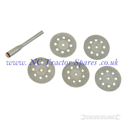 Vented Diamond Cutting Disc Kit 6pce 22mm (Silverline)