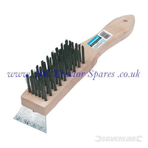 Wooden Wire Brush & Scraper 6 Row (Silverline)