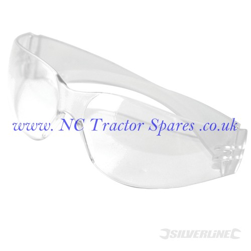 Wraparound Safety Glasses Clear (Silverline)