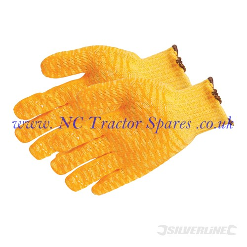 Yellow Gripper Gloves One Size (Silverline)